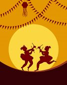 picture of navratri  - Shadow art graba dancer - JPG