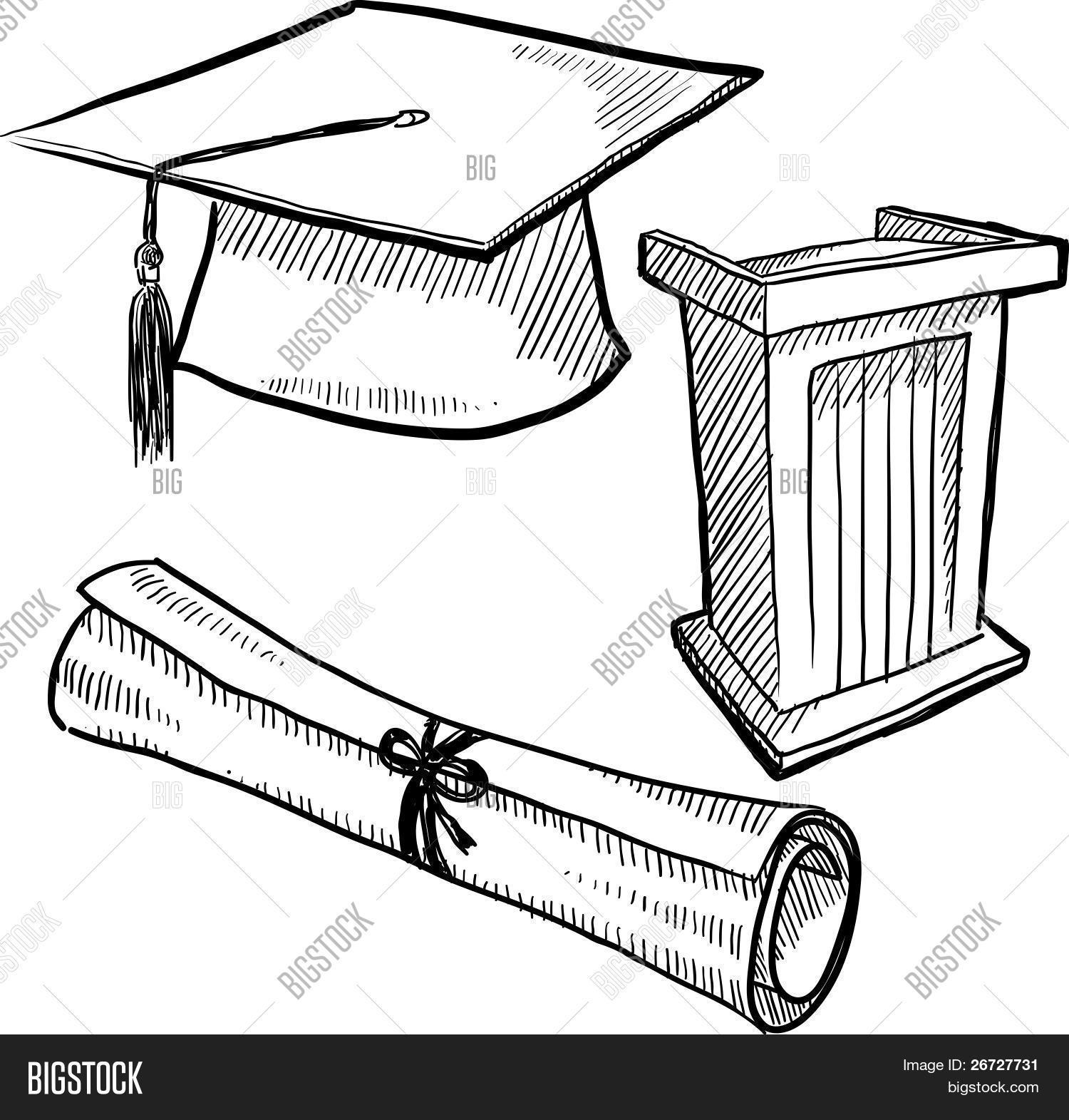 Image Gallery Graduation Sketch