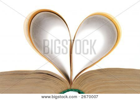 Heart Shaped Leaves Of The Open Book