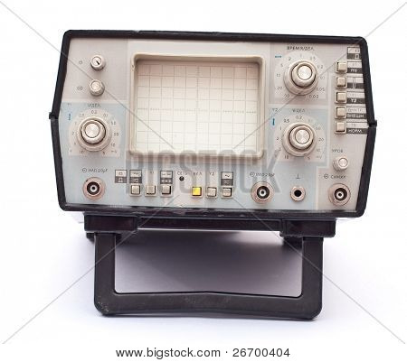 Old oscilloscope