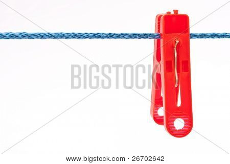 Clothespin hang on a cord
