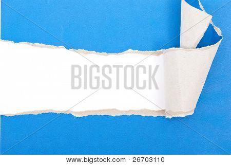 blau zerrissenes Papier