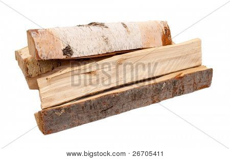 Firewood on white