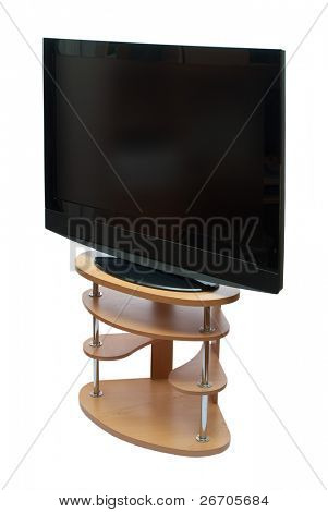 Large black widescreen TV