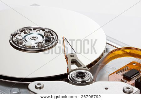 Side View Of Chrome Hard Drive