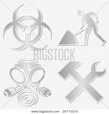 Warning Symbols Stickers
