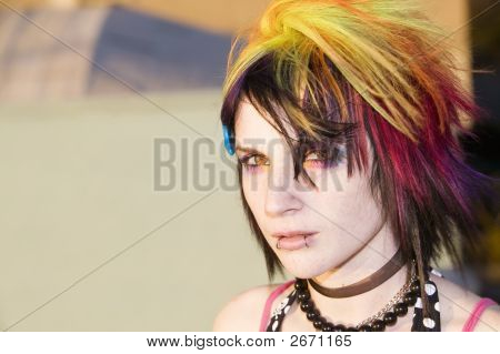 Junge Punk Frau
