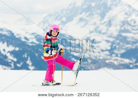 Kids Ski Winter Family Snow