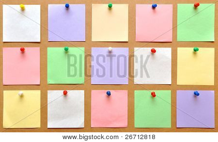 reminder notes on the bright color paper