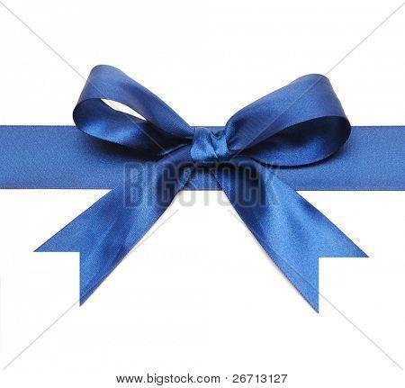 blue bow isolated on white background