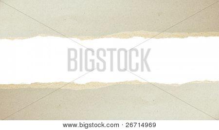 graue zerrissenes Papier Pappe gerissen abgesehen Ergebnis zugrunde liegende Schicht