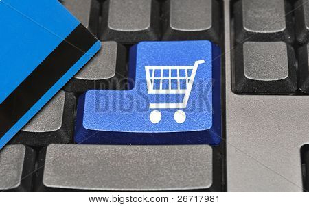 The button for purchases on the keyboard