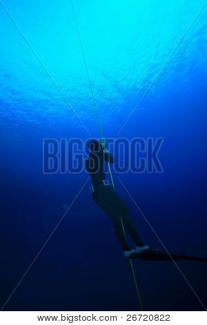 Freediver down Deep