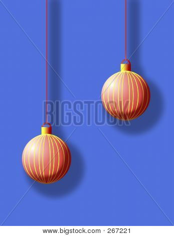 Two Red Christmas Ball