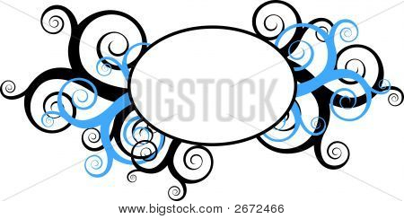 Decorative Swirls With Round Frame