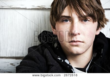 Retrato masculino adolescente