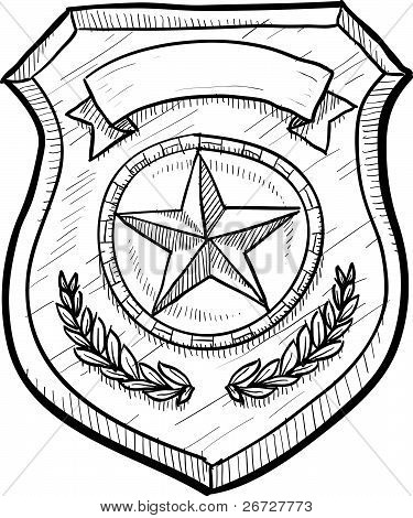Police badge sketch