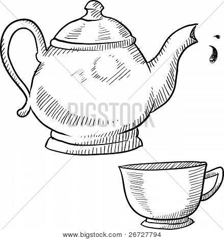 Coffee or tea sketch