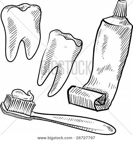 Dental objects sketch