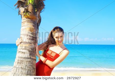 Girl And Palm