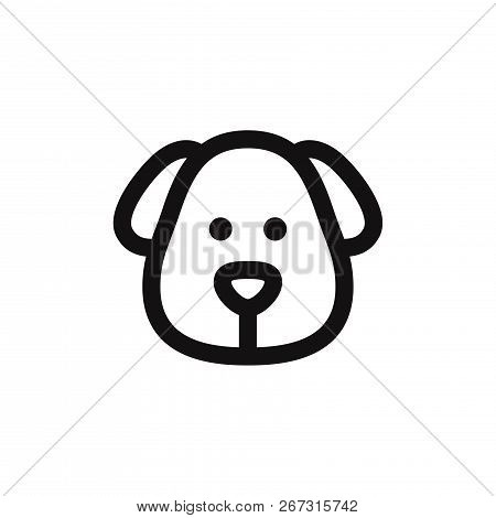 poster of Dog Head Icon Isolated On White Background. Dog Head Icon In Trendy Design Style. Dog Head Vector Ic