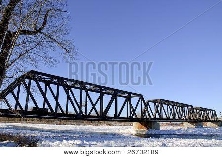 Bridge Over River Ice
