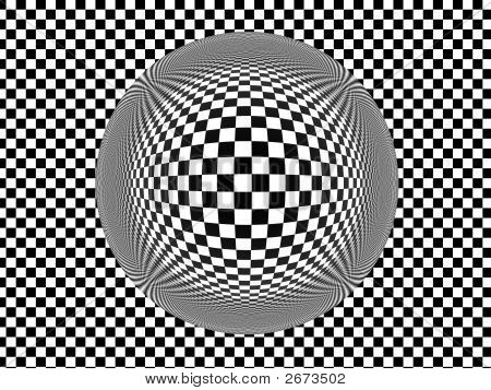 Glass Sphere On Checkerboard