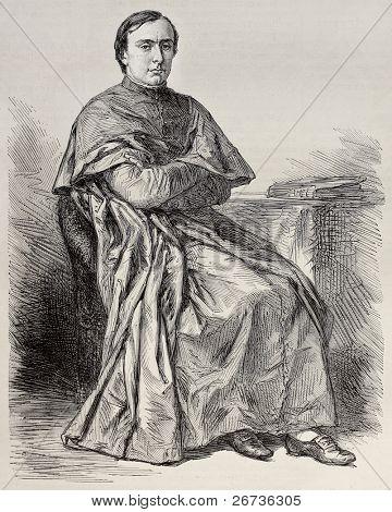 Retrato de Lucien Louis Joseph Cardinal de Napoleón Bonaparte, príncipe de Canino y Musignano. Por Rob