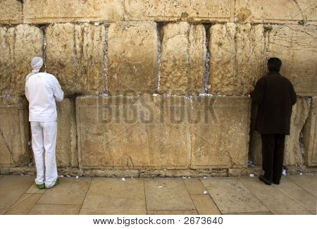 The Prays In Western Wall