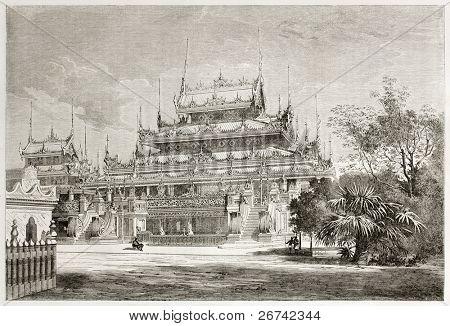 Maha Toolut Boungyo, Amarapura, Birmânia. Então desmontada e reassembled em Mandalay como Shwenandaw Kya