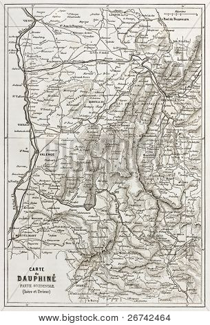 Dauphine old map, France
