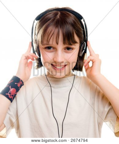 Girl Listening To Music 1