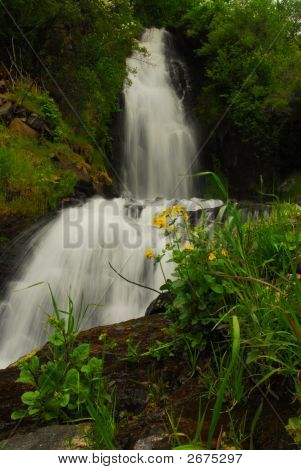 Waterfalls Along An Idaho Highway