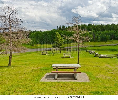 Beautiful picnic area in British Columbia, Canada.