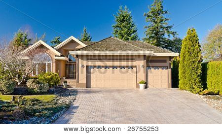 a very neat and tidy home with gorgeous outdoor landscape in suburbs of Vancouver, Canada