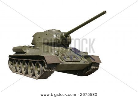 Soviet Battle Tank From The Wwii