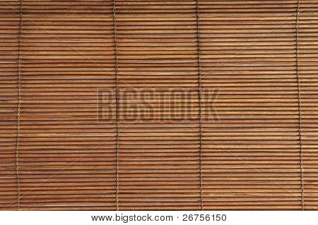 close up of the arranged bamboo stick