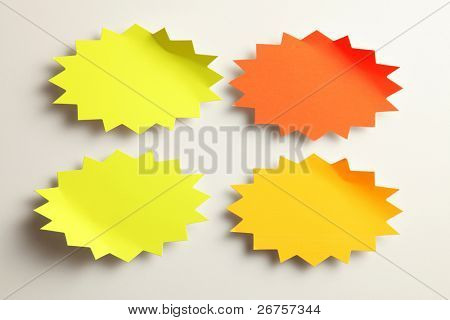 star burst blank tag design on the plain background