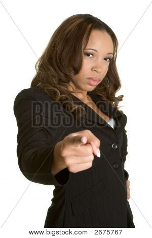 Angry Businessowoman Pointing