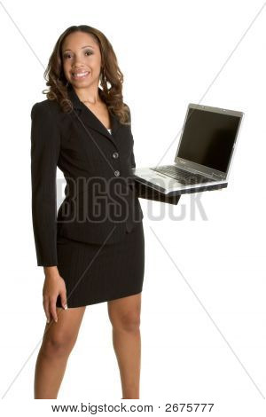 African American Laptop Lady
