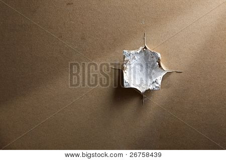 hole on the plasterboard