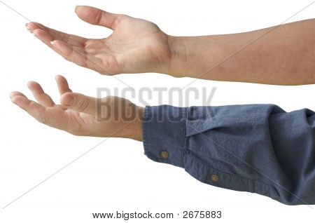 Man And Woman Outstretched Hands