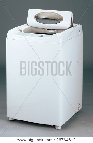 Studio shot of a washing machine on plain background with clipping path