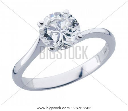 stock image diamond ring with clipping path