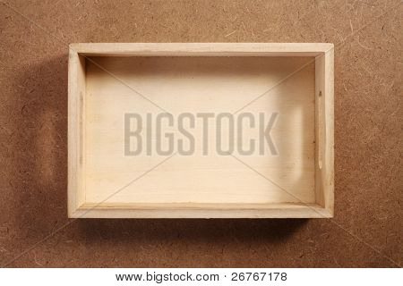 Wooden crate isolated on the background.