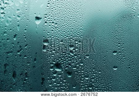 Water-Drops On Glass