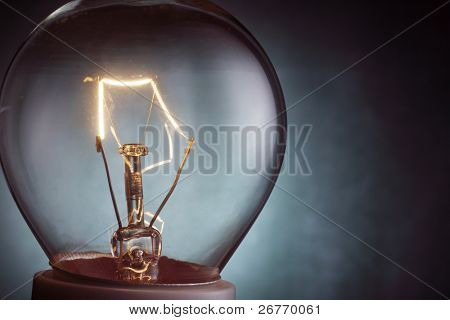 stock image close up of the light bulb illuminated