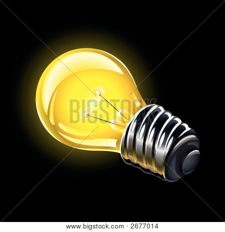 Electric Bulb Lighting Vector Illustration