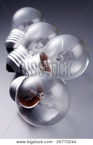 stock image of the light bulb in a row