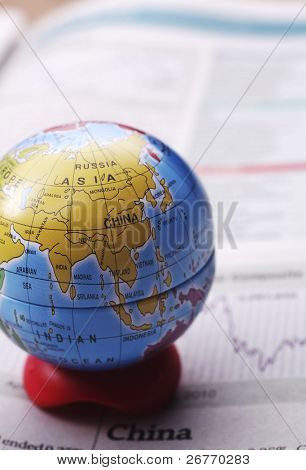 stock image of the share market at asia
